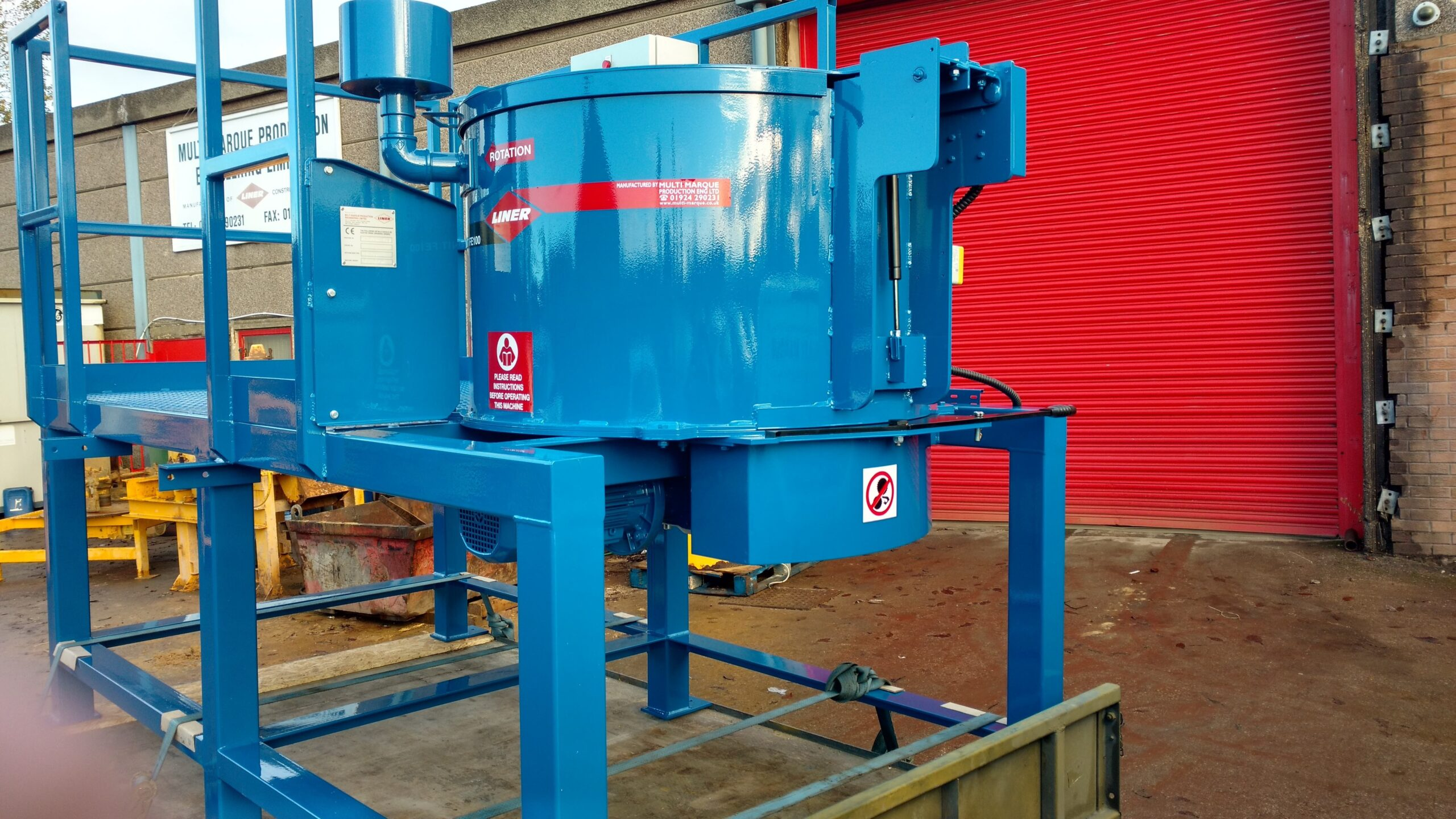 Our first refractory mixer delivered to Co Durham! image